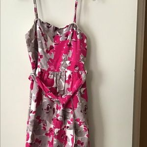 Pink and gray cocktail dress